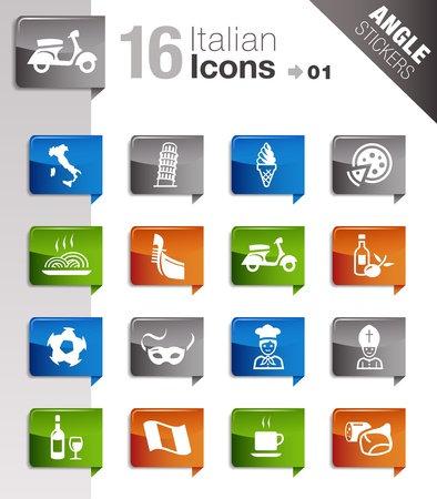 Angle Stickers - Italian Icons Vector