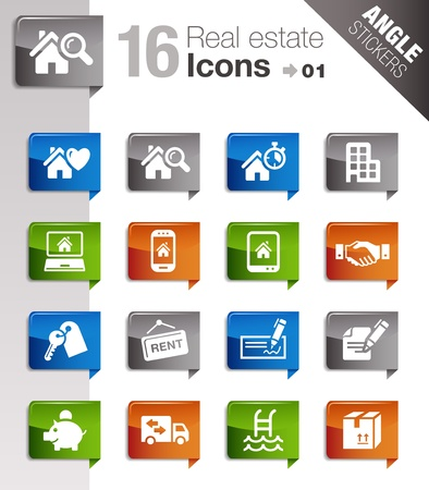 loans: Angle Stickers - Real estate icons