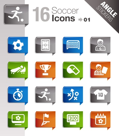 Angle Stickers - Soccer Icons Vetores
