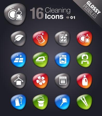 productos de limpieza: Piedras brillantes: los iconos de limpieza