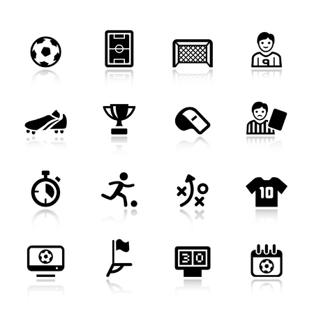 Basic - Soccer Icons Stock Vector - 12488381