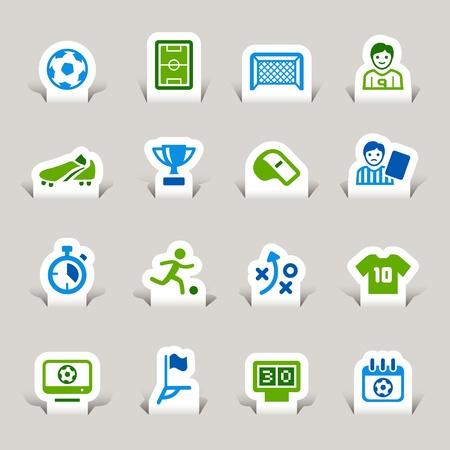 Papier-Schnitt - Soccer Icons