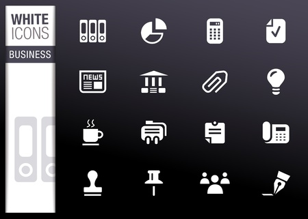 White - Office and Business icons Vector