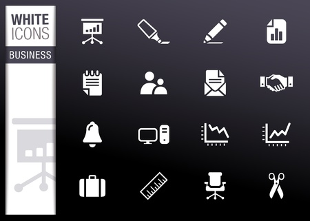 folder icons: White - Office and Business icons