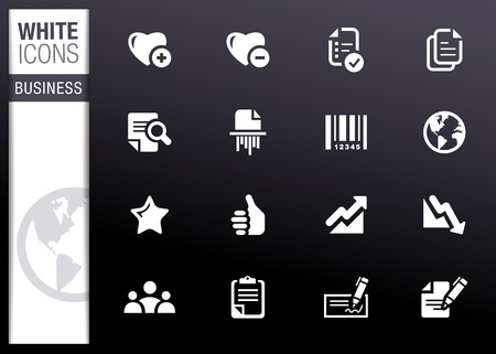 White - Office and Business icons