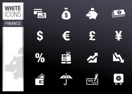 faillite: Blanc - ic�nes des Finances