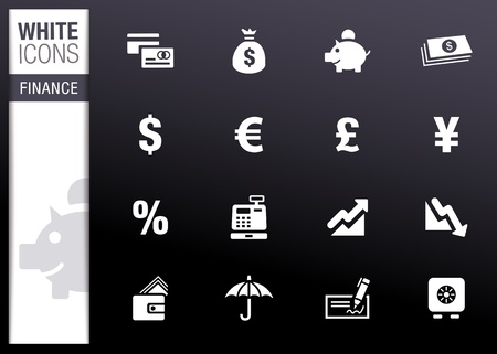 White - Finance icons