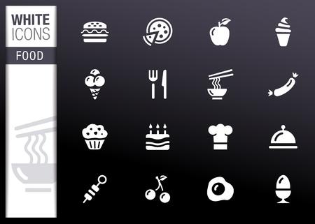 White - Food Icons Illustration
