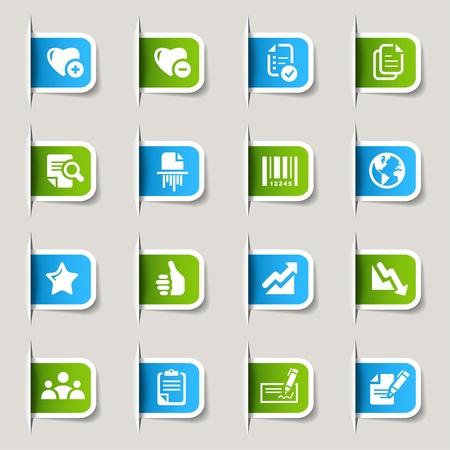 ajouter: D'étiquettes - icônes de bureau et d'affaires