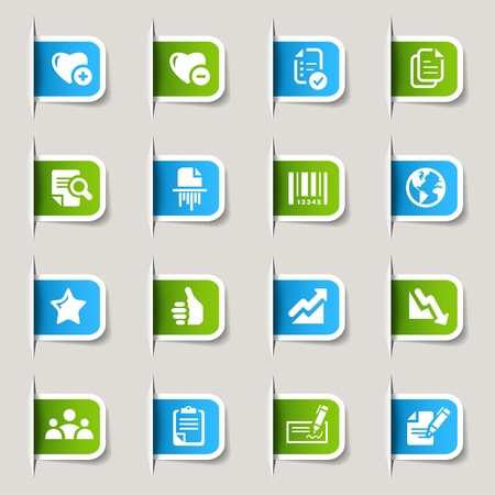 kwis: Label - Office en Business iconen Stock Illustratie
