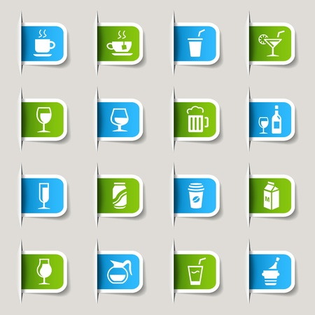 water can: Label - Drink Icons Illustration
