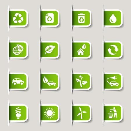 Label - Ecological Icons Ilustracja