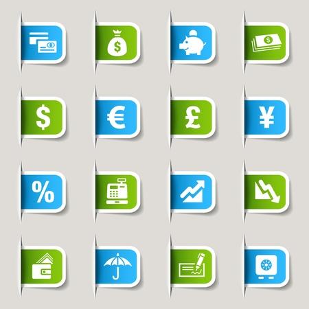 dinero euros: Etiqueta - Los iconos de Finanzas Vectores