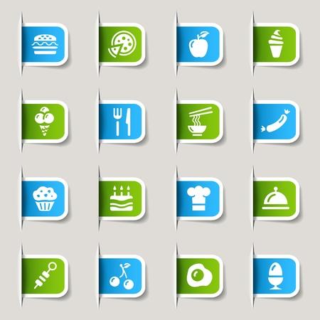 pizzeria label: Etiquetas - Iconos de alimentos