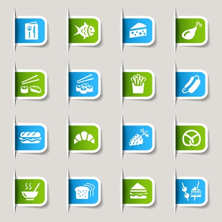 fish icon: Label - Food Icons