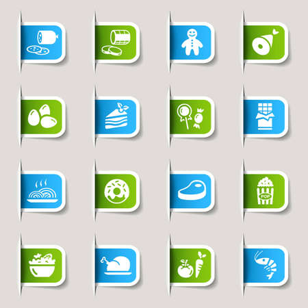 Label - Food Icons Vector