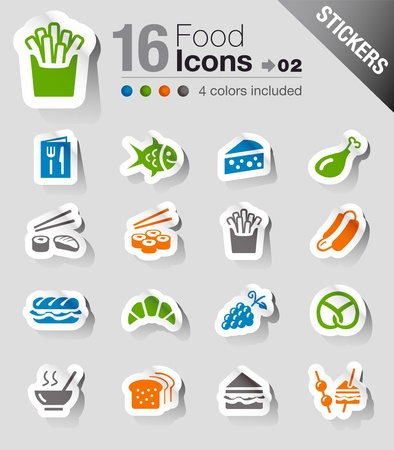 Stickers - Food Icons Stock Vector - 13384358