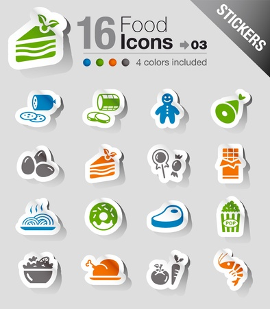 fast food restaurant: Stickers - Food Icons