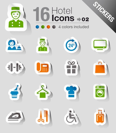 hotel icon: Stickers - Hotel icons Illustration