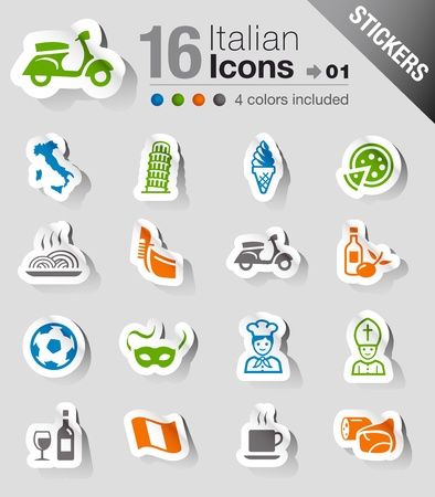 Stickers - Italian Icons Vector