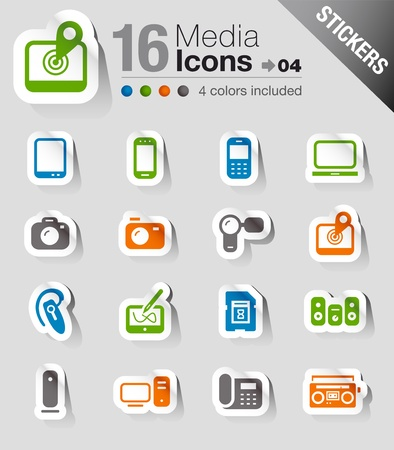 headset symbol: Stickers - Media Icons