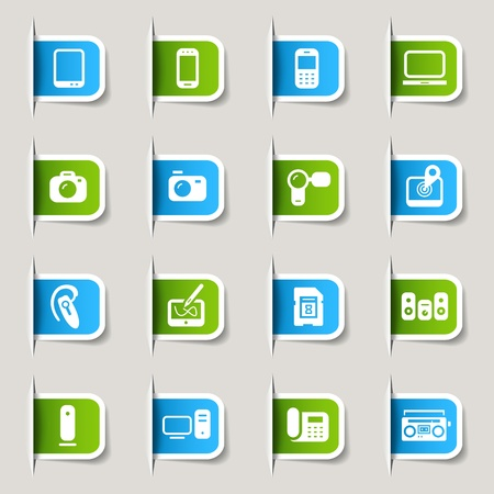 Label - Media Icons Illustration