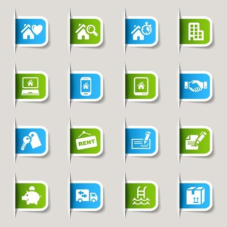 check icon: Etiquetas - iconos de bienes ra�ces