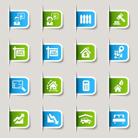 Label - Real estate icons Vector