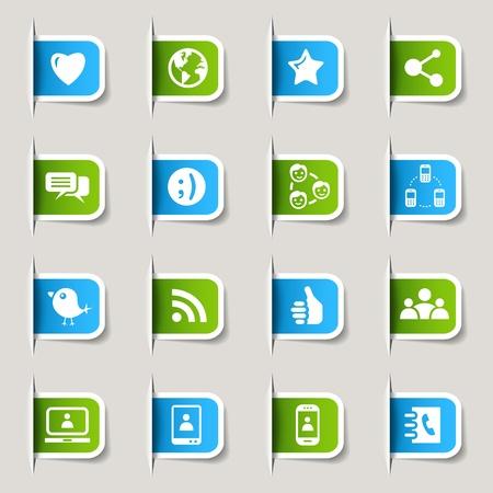 Etiquetas - iconos de los medios sociales