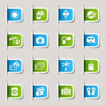 uv: Etiquetas - iconos de vacaciones