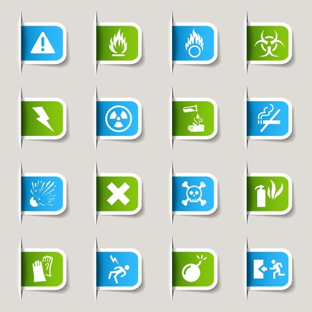 Label - Warning icons Vector