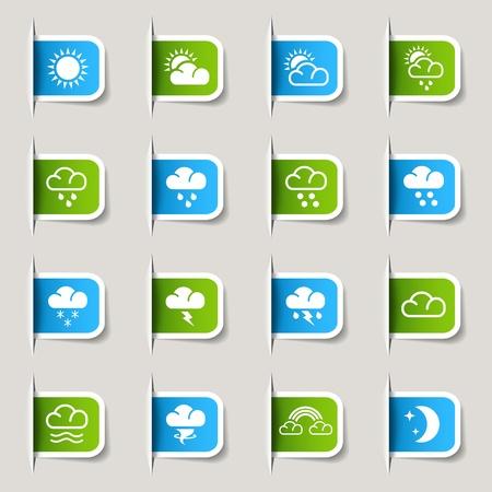 iconos del clima: Tiempo Label-Iconos
