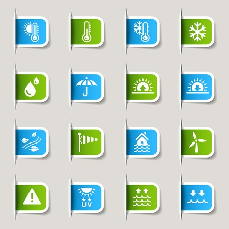 weather icons: Label- Weather Icons Illustration