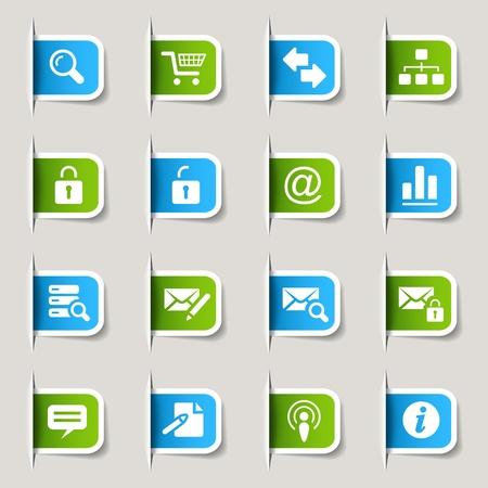 mail man: Etiquetas - Iconos Web e Internet Vectores