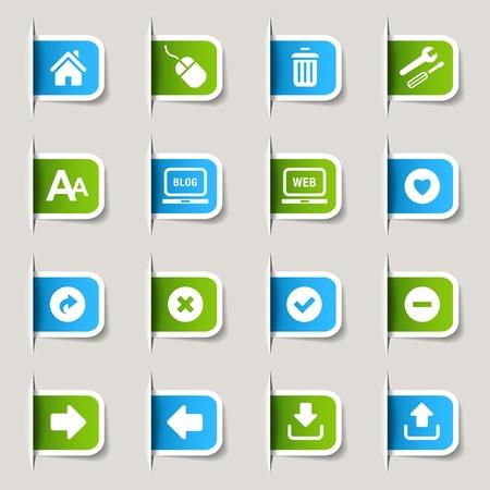 ラベル - ウェブサイトおよびインターネット アイコン  イラスト・ベクター素材