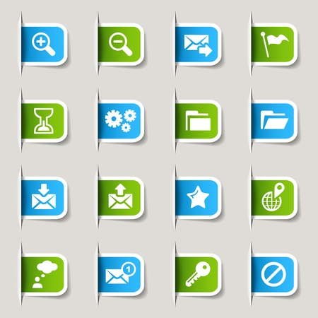 contact icon: Label - Website and Internet Icons Illustration