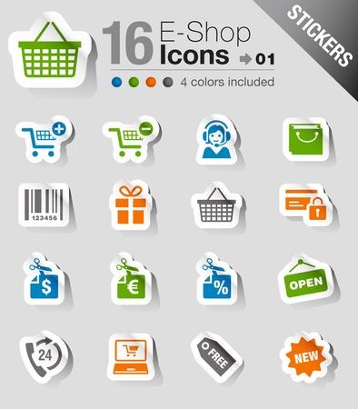 e commerce icon: Etiquetas: iconos de compras