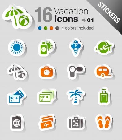 foto carnet: Etiquetas: iconos de vacaciones