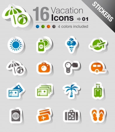 travel luggage: Stickers - Vacation icons