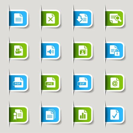 pdf: Label - File Format Icons