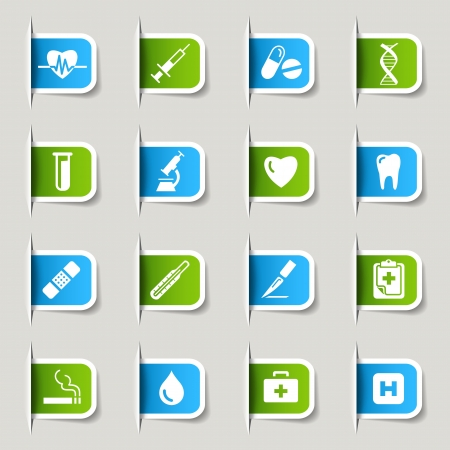 folder icons: Label - Medical Icons Illustration