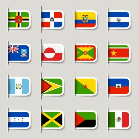 republic of ecuador: Label - American Flags