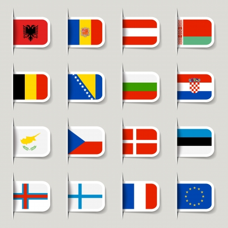 Label - European Flags Stock Vector - 14906398