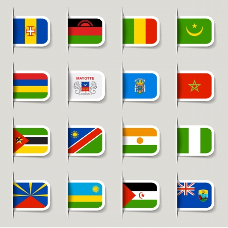 namibia: Label - African Flags Illustration