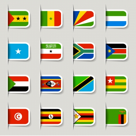 Label - African Flags Illustration