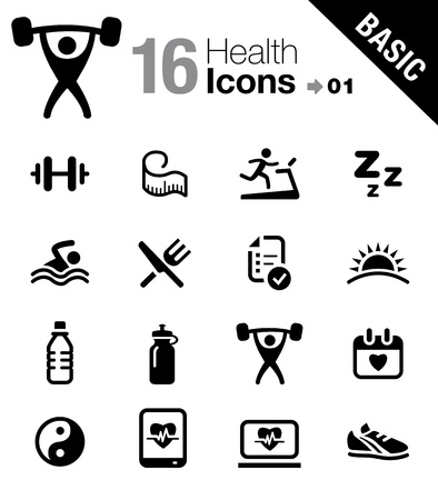 fitnes: Basic - Zdrowie i Fitness icons