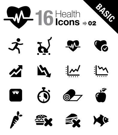 Basic - Health and Fitness icons Imagens - 17533599