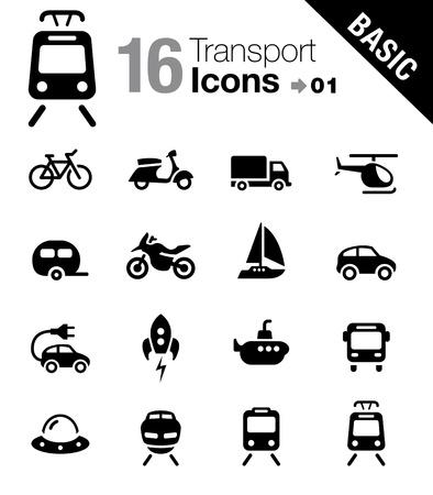 estación del metro: Basic - iconos de transporte
