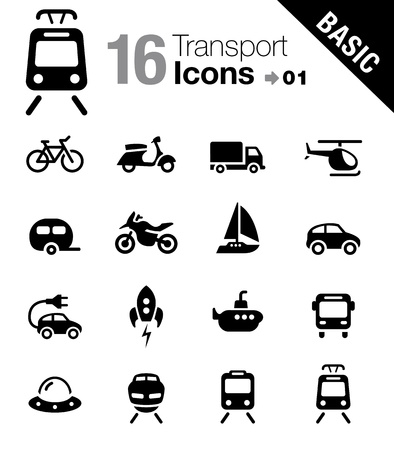 Basic - Transportation icons Vector