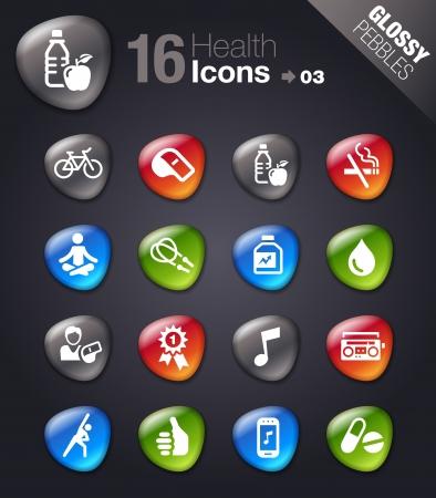 iconos de música: Piedras brillantes - iconos de Salud y Bienestar